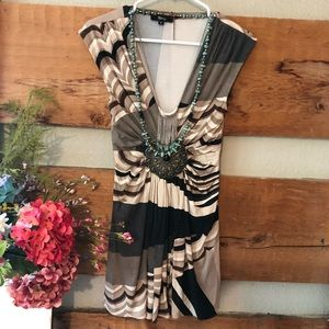 Sky Brand S embellished tunic blouse designer top